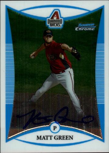 Photo of 2008 Bowman Chrome Prospects #BCP266 Matt Green AU