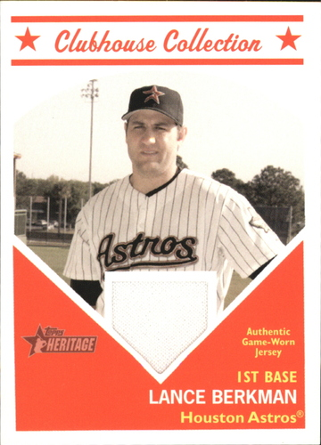 Photo of 2008 Topps Heritage Clubhouse Collection Relics #LB Lance Berkman D