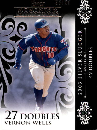 Photo of 2008 Topps Moments and Milestones Black #75-27 Vernon Wells