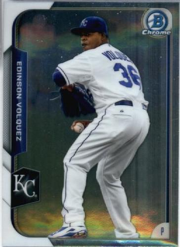 Photo of 2015 Bowman Chrome #121 Edinson Volquez