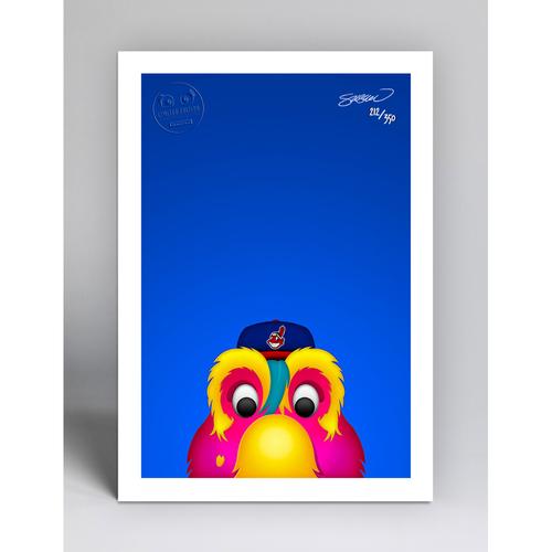 Photo of Slider - Limited Edition Minimalist Mascot Art Print by S. Preston  - Cleveland Indians
