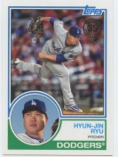 Photo of 2018 Topps Update '83 Topps #8341 Hyun-Jin Ryu