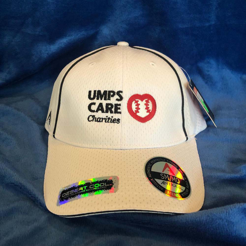 Photo of UMPS CARE AUCTION: UMPS CARE Baseball Cap, Off-White with Black Piping (Select Your Size)