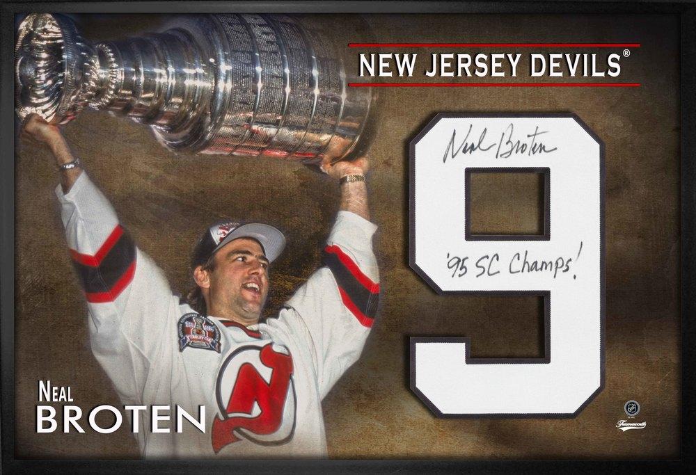 Neal Broten Signed Jersey Number Framed Print Devils Stanley Cup