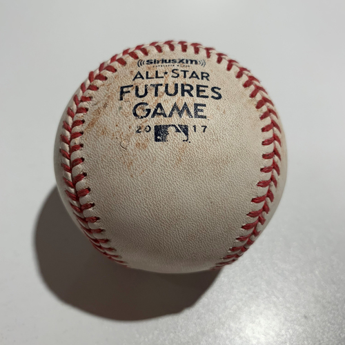 Photo of 2017 Futures Game - Game Used Baseball - Batter: Mauricio Dubon (Double), Victor Robles (Pitch In Dirt), Pitcher: Jack Flaherty