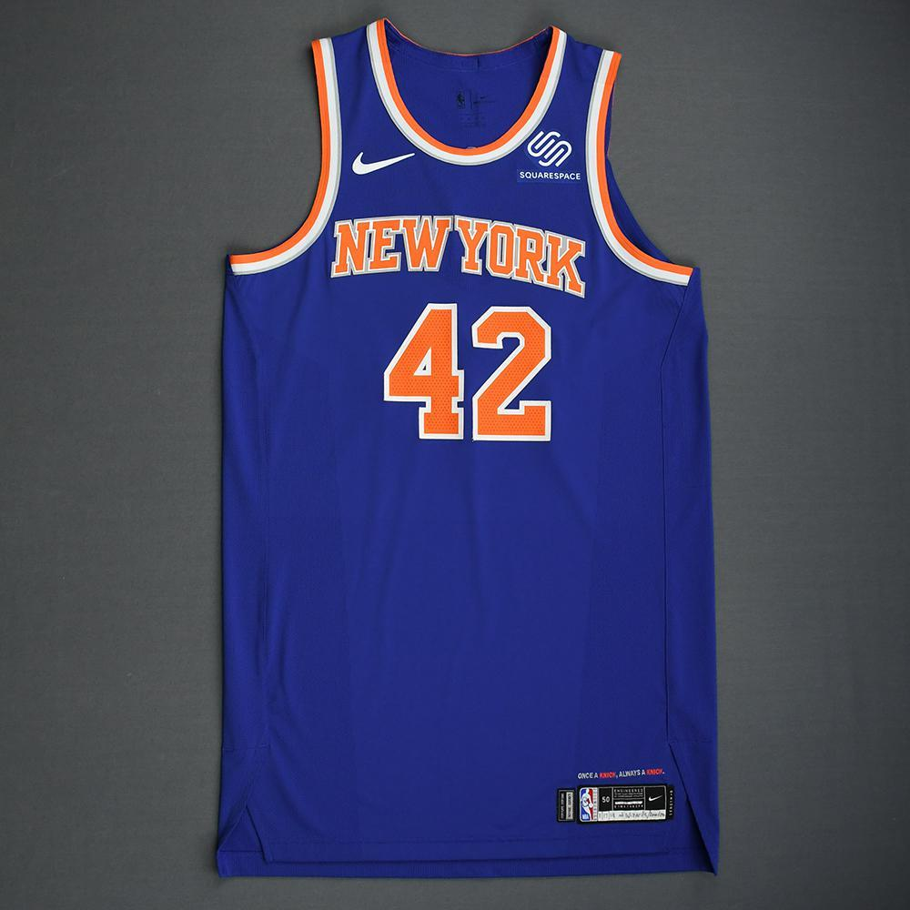 Lance Thomas - New York Knicks - 2018-19 Season - London Games - Game-Worn 1st Half Blue Icon Edition Jersey - Dressed, Did Not Play (1 of 2)