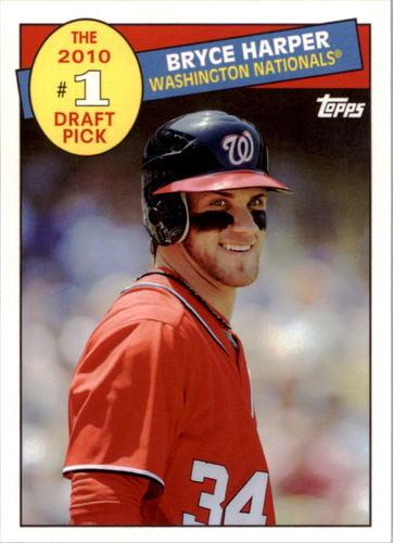 Photo of 2016 Topps Archives '85 Topps #1 Draft Pick #85DPBH Bryce Harper