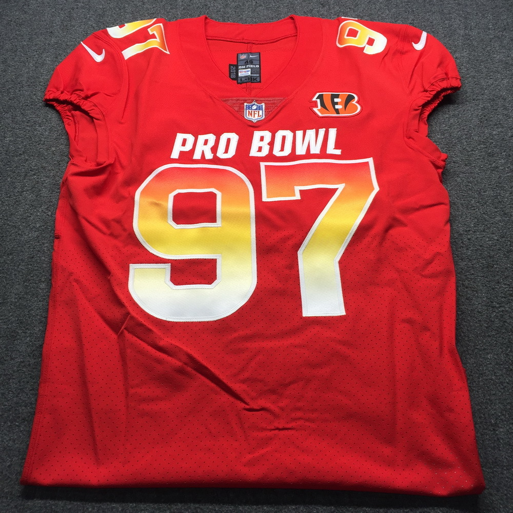 NFL Auction | NFL - Bengals Geno Atkins Game Issued 2019 Pro Bowl ...