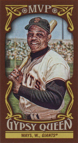 Photo of 2016 Topps Gypsy Queen MVP Minis #MVPMWM Willie Mays