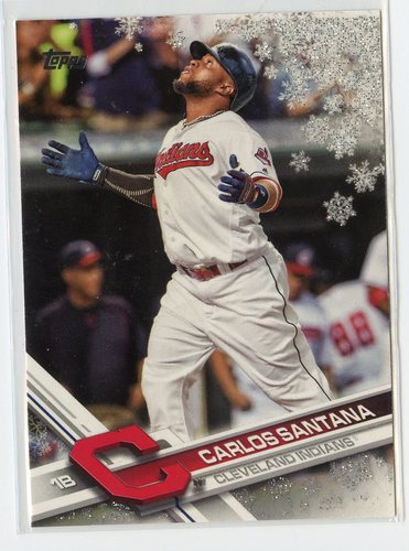 Photo of 2017 Topps Walmart Holiday Snowflake Metallic #HMW197 Carlos Santana