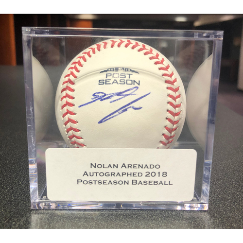 Photo of Colorado Rockies Autographed 2018 Postseason Baseball: Nolan Arenado