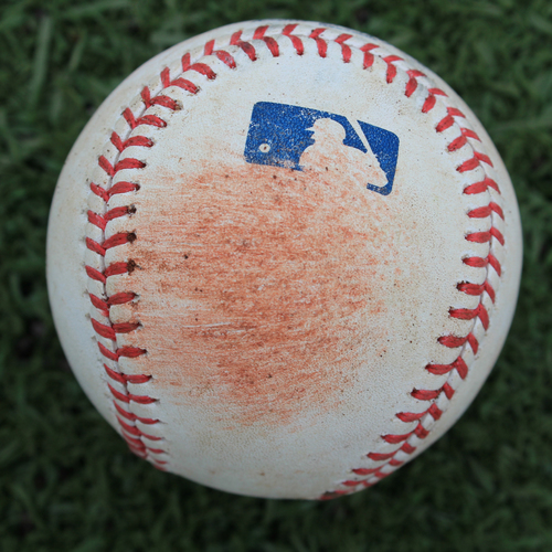 Photo of Game-Used Baseball: Meibrys Viloria 6th Career Double and 12th Career RBI (NYM @ KC - 8/16/19)