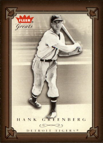 Photo of 2004 Greats of the Game #5 Hank Greenberg
