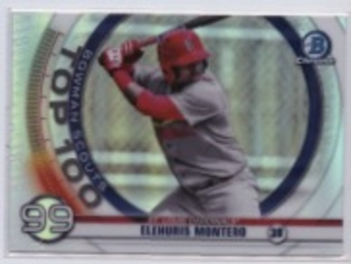 Photo of 2020 Bowman Chrome Scouts Top 100 #BTP99 Elehuris Montero