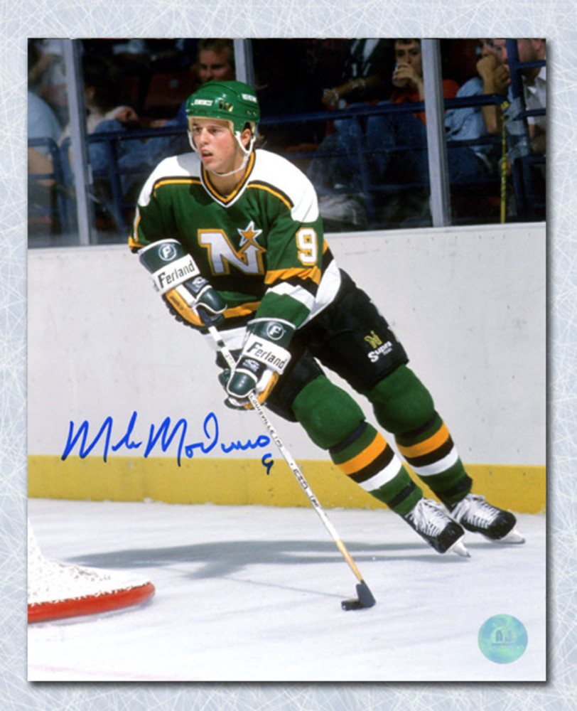 Mike Modano Minnesota North Stars Autographed Playmaker 8x10 Photo