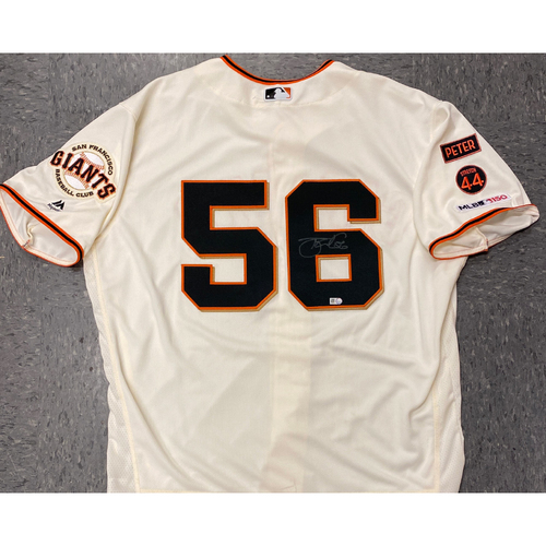 Photo of 2020 Black Friday Sale - #56 Tony Watson Autographed 2019 Home Cream Jersey - Size 50