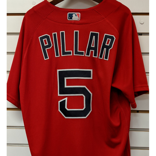 Photo of Kevin Pillar #5 Team Issued Nike Red Spring Training Jersey