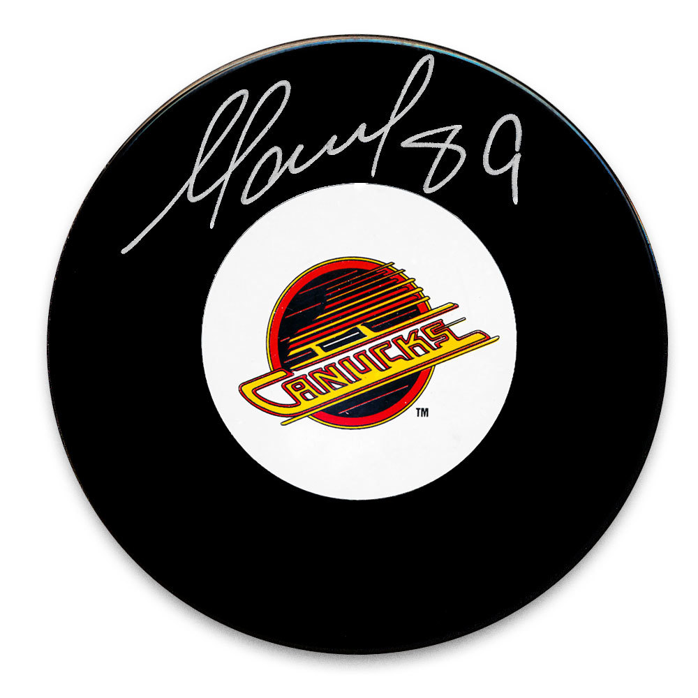 Alexander Mogilny Vancouver Canucks Autographed Puck