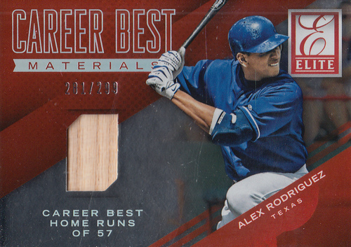 Photo of 2015 Elite Career Bests Materials #8 Alex Rodriguez/299