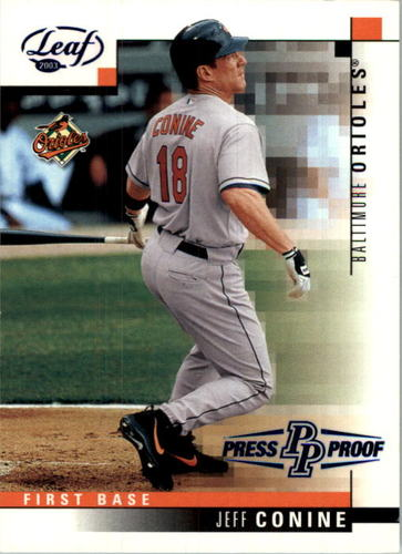 Photo of 2003 Leaf Press Proofs Blue #12 Jeff Conine