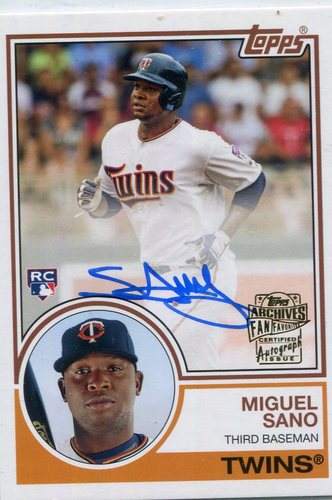 Photo of 2016 Topps Archives Fan Favorites Autographs  Miguel Sano