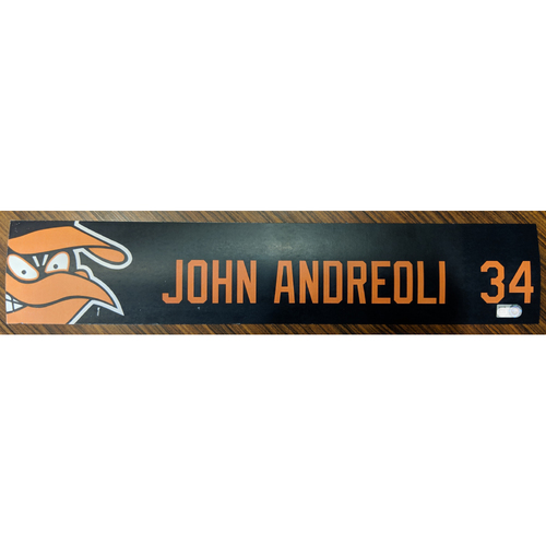 Photo of John Andreoli #34 - Locker Tag: Team-Issued