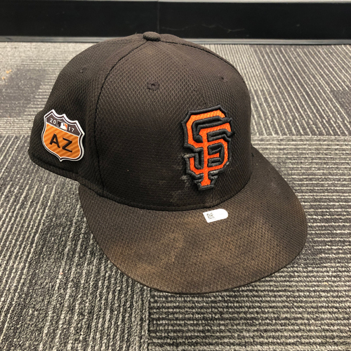 Photo of 2017 Game Used Spring Training Cap Worn by #21 Connor Gillaspie - Size 7 3/8