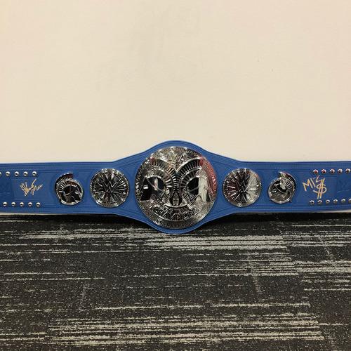 Photo of The Miz & Shane McMahon SIGNED SmackDown Tag Team Championship Replica Title