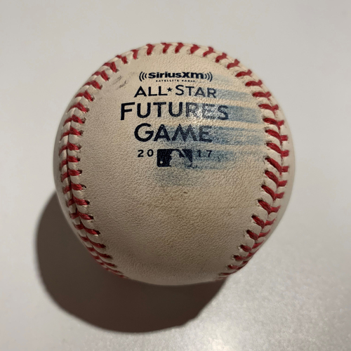Photo of 2017 Futures Game - Game Used Baseball - Batter: Ronald Acuna Pitcher: Tanner Scott - Foul Ball