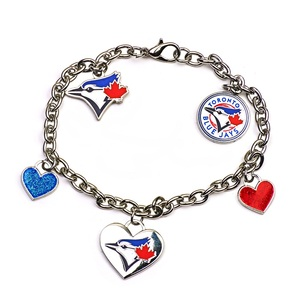 Toronto Blue Jays 5 Charm Heart Bracelet by PSG