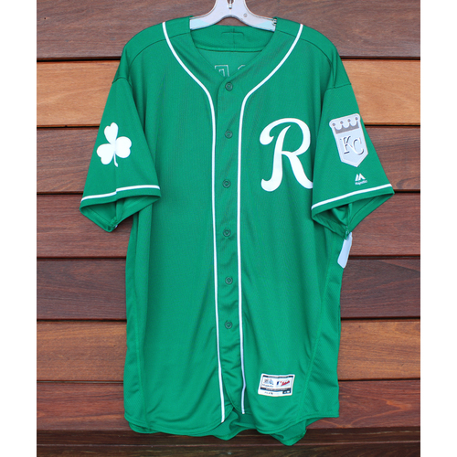 Team-Issued St. Patrick's Day Jersey: Jason Adam (Size - 50)