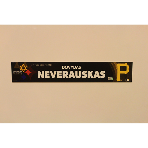 Photo of 2019 Game Used Locker Nameplate - Dovydas Neverauskas