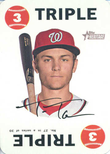 Photo of 2017 Topps Heritage Topps Game #27 Trea Turner