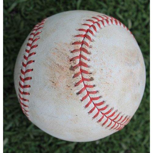 Photo of Game-Used Baseball: Scott Barlow Pitched Strikeout to Andrew Benintendi (BOS @ KC - 6/6/19)