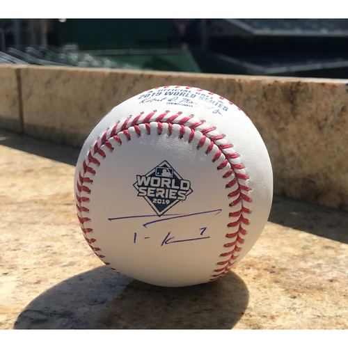 Photo of Trea Turner Autographed 2019 World Series Champions Baseball