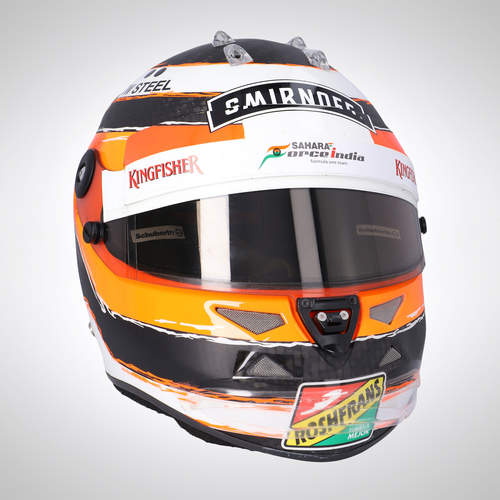 Photo of Nico Hulkenberg 2014 Race-Used Race Helmet