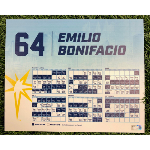 Photo of Rays Baseball Foundation: Team Issued Locker Tag: Emilio Bonifacio - 2019 Season