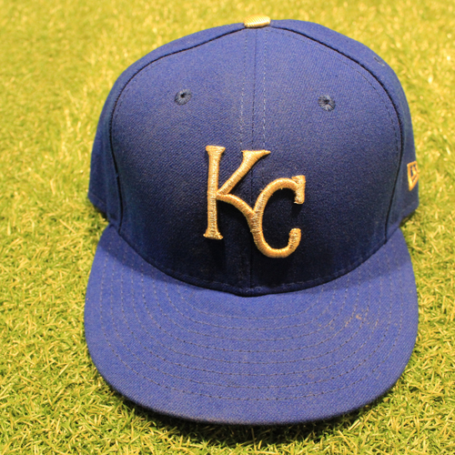 Game-Used 2020 Gold Hat: Whit Merrifield #15 (Size 7 3/8 - DET @ KC 9/25/20)