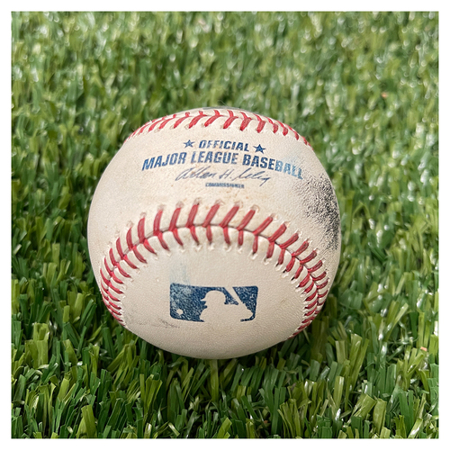 Minnesota Twins: Game-Used Baseball - Detroit Tigers at Minnesota Twins- Pitcher Samuel Deduno to Prince Fielder for Double - Top 6 - June 15th, 2013