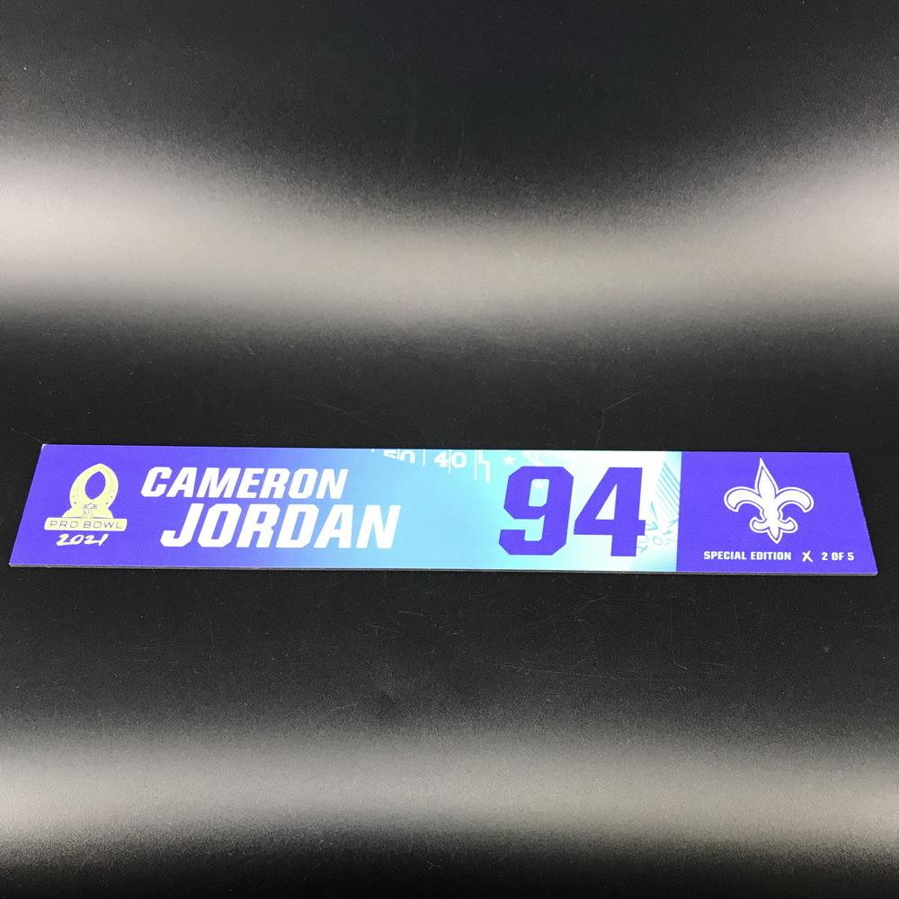 NFL - Saints Cameron Jordan 2021 Pro Bowl Locker Nameplate Special Edition #2 of 5