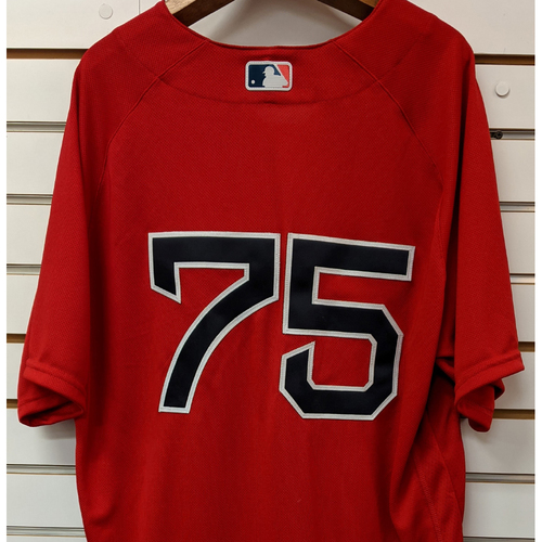 Photo of #75 Team Issued Nike Red Home Alternate Jersey