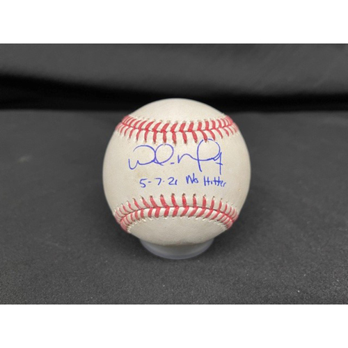 Photo of Wade Miley No-Hitter - *Autographed Game-Used Baseball* - Top 3 - Zach Plesac to Nick Senzel (Grounded Into Force Out) - Inscribed as 5-7-21 No Hitter