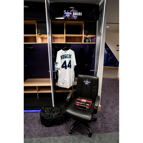 Photo of 2021 All-Star Game Clubhouse Chair Panel from Trevor Rogers' Locker Chair