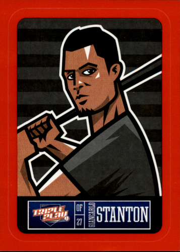 Photo of 2013 Triple Play Stickers Red #13 Giancarlo Stanton