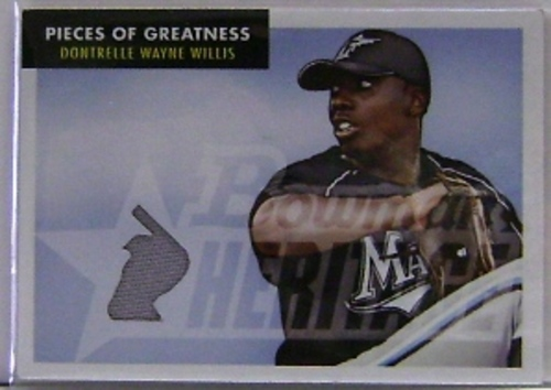 Photo of 2007 Bowman Heritage Pieces of Greatness #DW Dontrelle Willis Jsy E