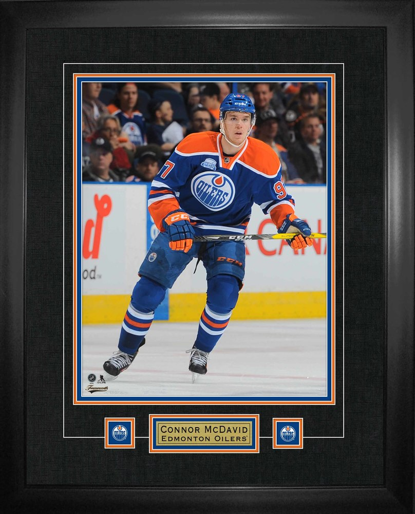 Connor McDavid - 22x28 Photo And Logo Frame Oilers