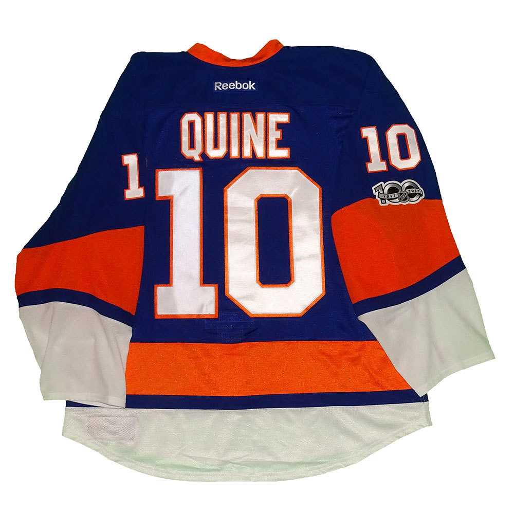 Alan Quine - Game Worn Home Jersey - 2016-17 Season - New York Islanders