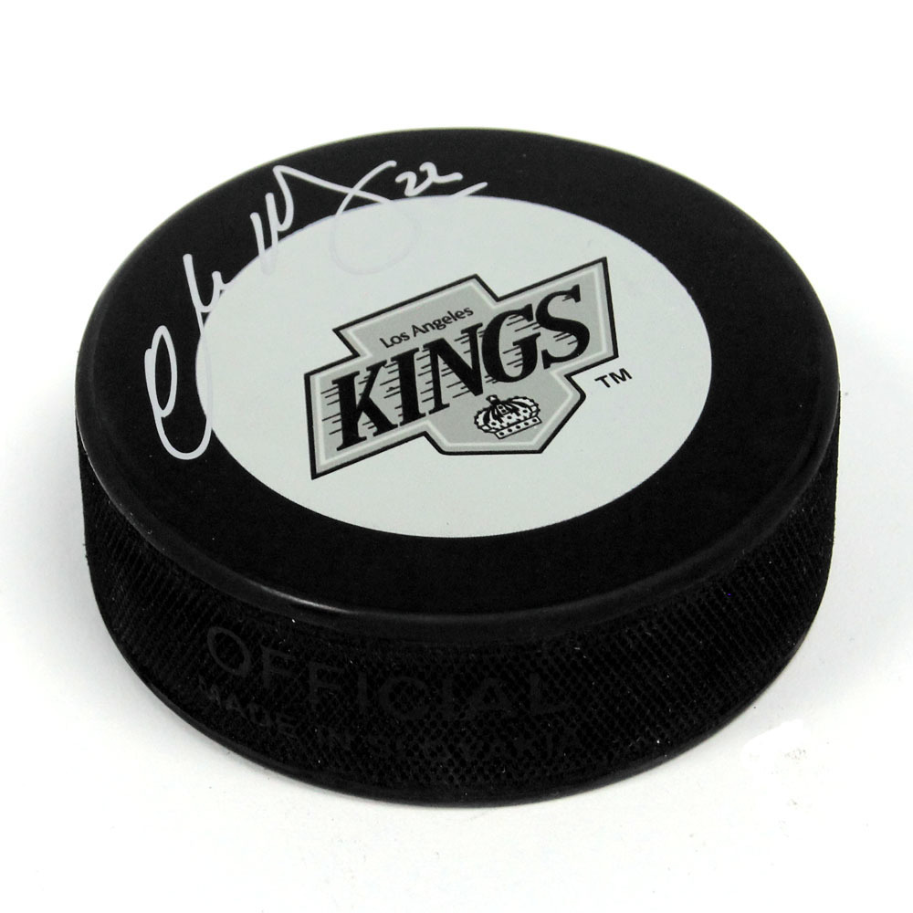 Charlie Huddy Los Angeles Kings Autographed Retro Logo Hockey Puck