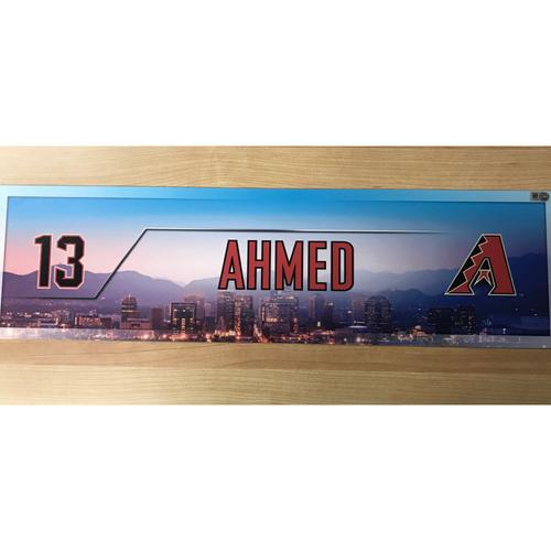 Photo of Nick Ahmed Team-Issued 2017 Season Nameplate