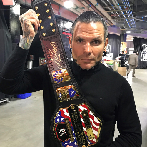 Photo of Jeff Hardy SIGNED United States Championship Replica Title
